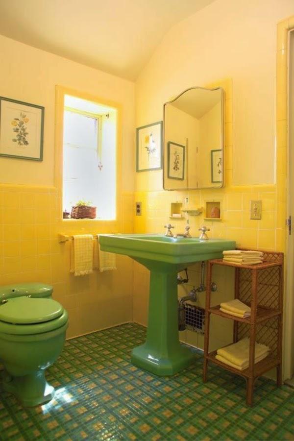 Decoraci n de ba os color amarillo colores en casa - Decoracion en amarillo ...