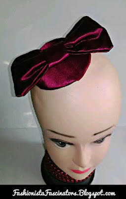 Maroon fascinators in Kenya