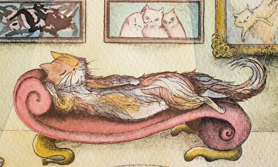 Ilustración, Mamá Gata de Liliana Camacho aka Liloo