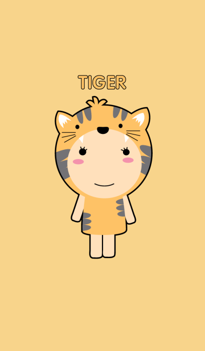 Simple Girl tiger theme