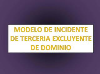 TERCERIA DE DOMINIO EXCLUYENTE