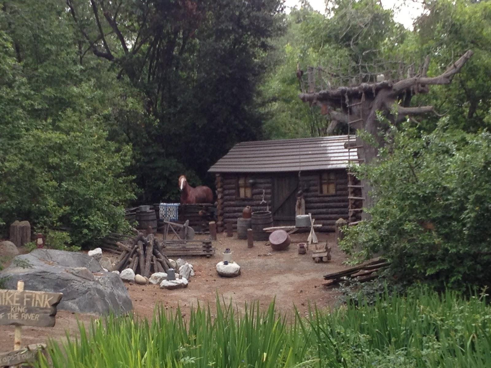 Disneyland Report THROWBACK THURSDAY Burning Settlers Cabin