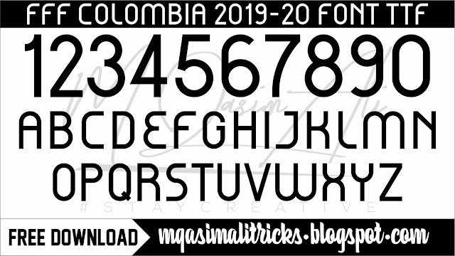 FFF Colombia 2019-20 Free Football Font Download by M Qasim Ali