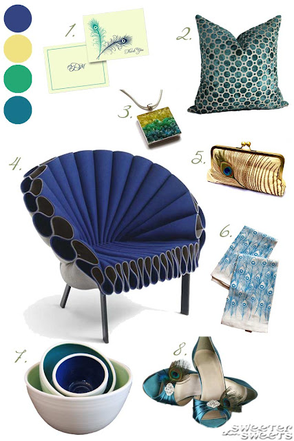 Peacock Inspiration Board by SweeterThanSweets