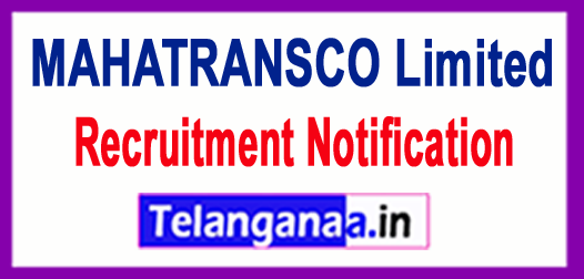 MAHATRANSCO  The Maharashtra State Electricity Transmission Company Limited Recruitment Notification 2017