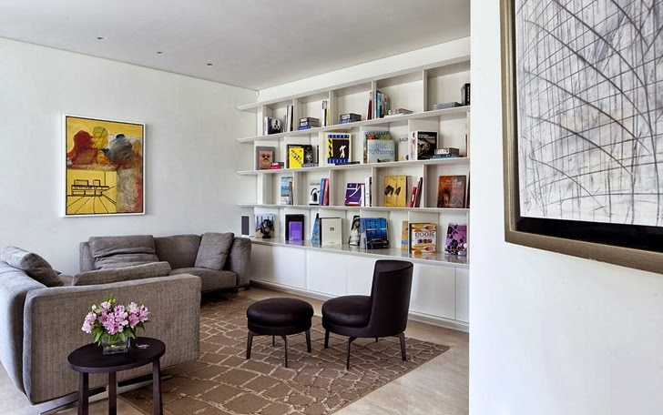 Reading room in Modern family home by Domb Architecture