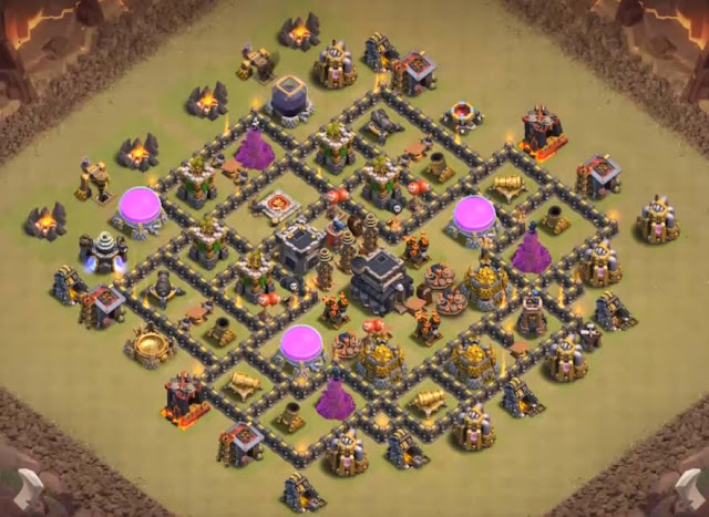 level 8 town hall anti gowipe and anti dragon base design
