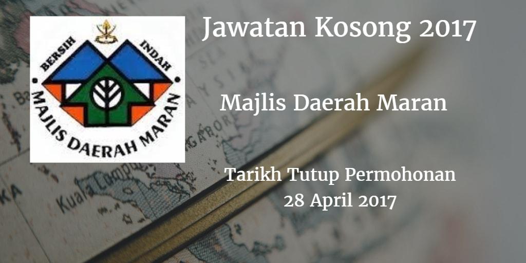 Jawatan Kosong MdMaran 28 April 2017