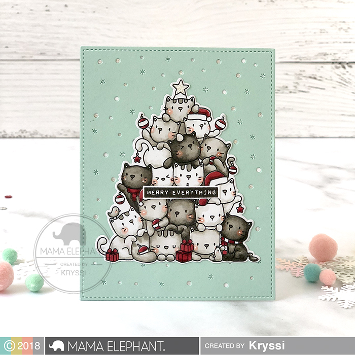 ME Supplies Used Oh Kitty Tree Stamps And Dies Available 9 15 2018 Occasional Labels Galactic Cover