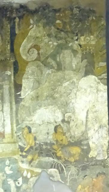 Ajanta cave 17 painting - Shaddanta Jataka
