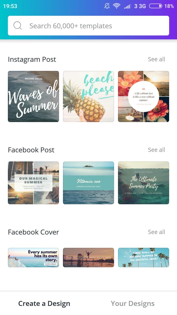 Canva: Aplikasi Pembuat Poster Android