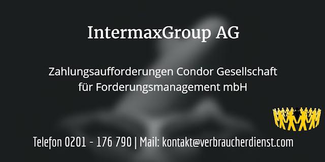Bild IntermaxGroup AG Condor Zahlungsaufforderung