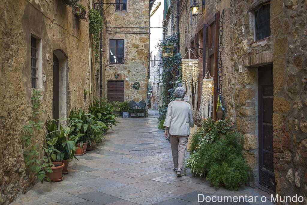 Ruas de Pienza, Pienza, Toscana, Itália