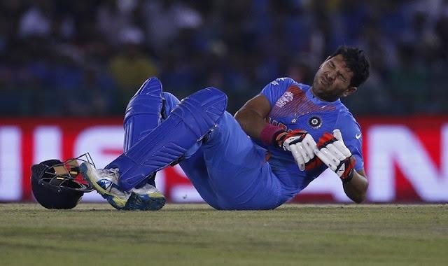 चोट की वजह सेमीफाइनल मे नही खेलेगे युवराज सिंह