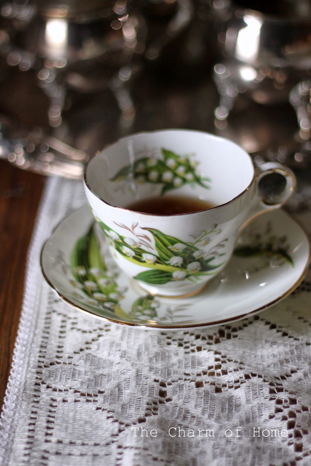 Lily of the Valley teacup, The Charm of Home