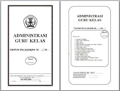 DOWNLOAD ADMINISTRASI GURU KELAS SD/MI TERLENGKAP FORMAT WORD BISA DIEDIT