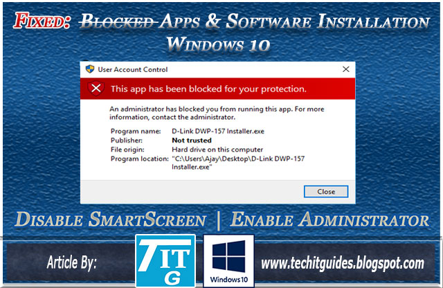 Fix Blocked Apps and Software Installation in Windows-10