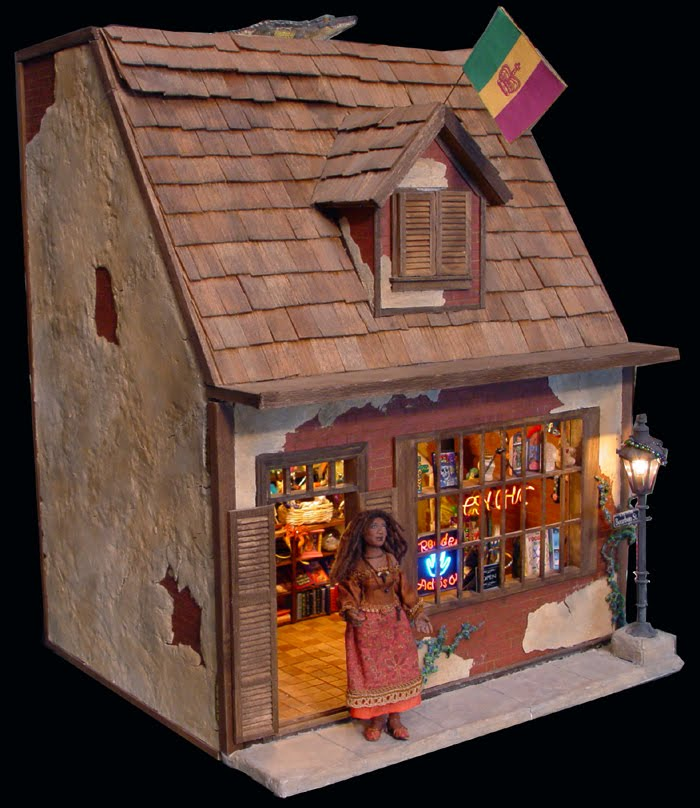 Dollhouse Miniatures In Las Vegas: EV Miniatures: Tia's Vieux Carre' Voodoo