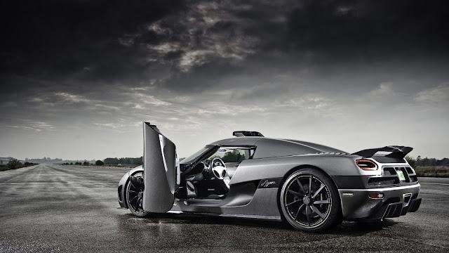 Carro de luxo Koenigsegg super carro cinza Papel de Parede HD