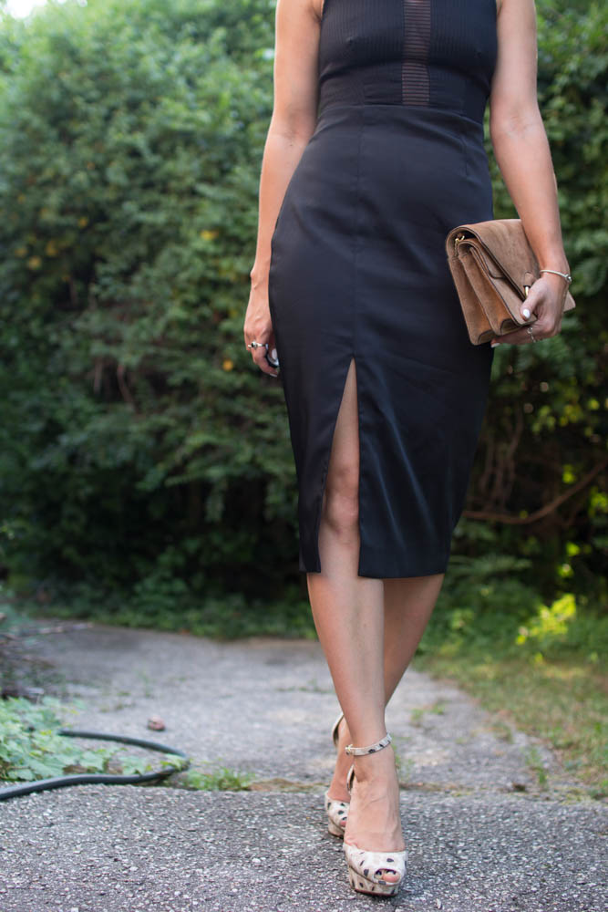 How to wear black to a wedding. | A.Viza Style | finders keepers midi dress. dc blogger