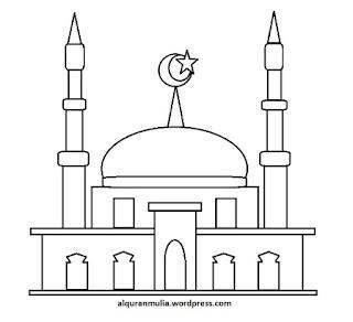 Gambar Sketsa Mewarnai Masjid Terbaru 201721