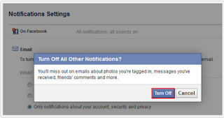 Turn Off Email Notifications On Facebook - Step By Step
