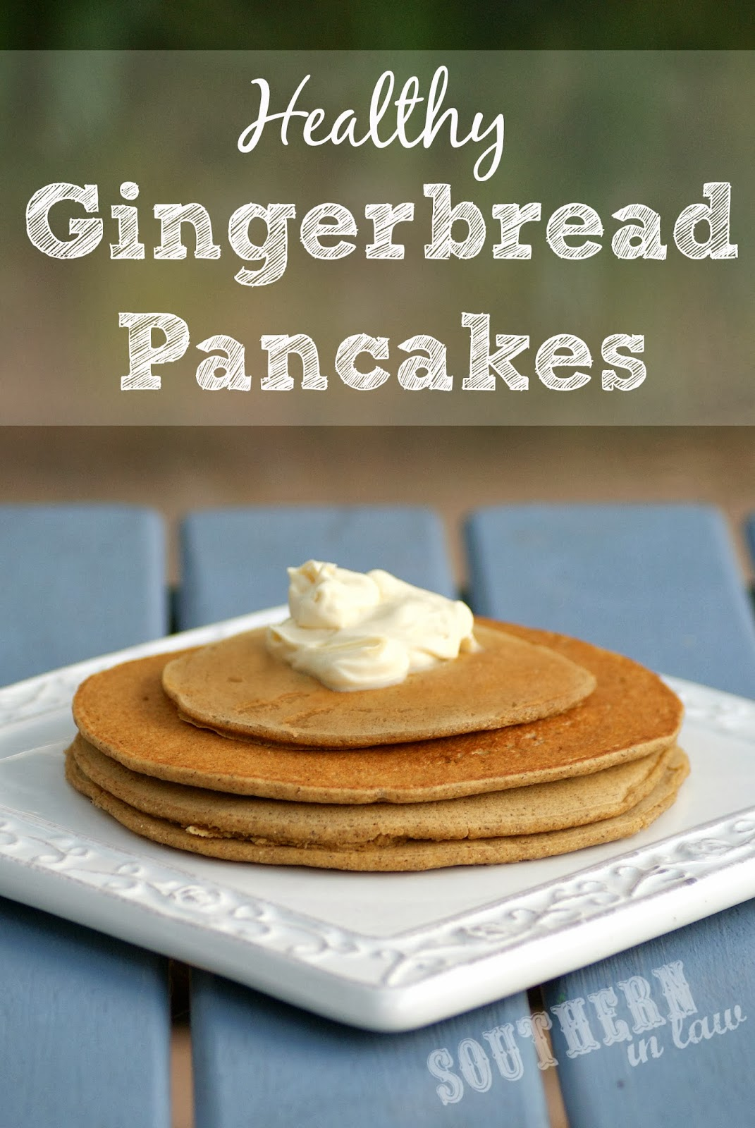 Healthy Gingerbread Pancake Recipe - Gluten Free, Low Fat, Sugar Free