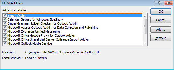 Outlook-add-ons