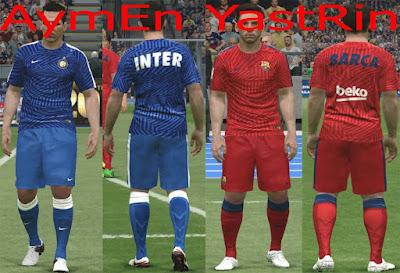 PES 2016 Barca+Inter Pre-Match Kits 2017