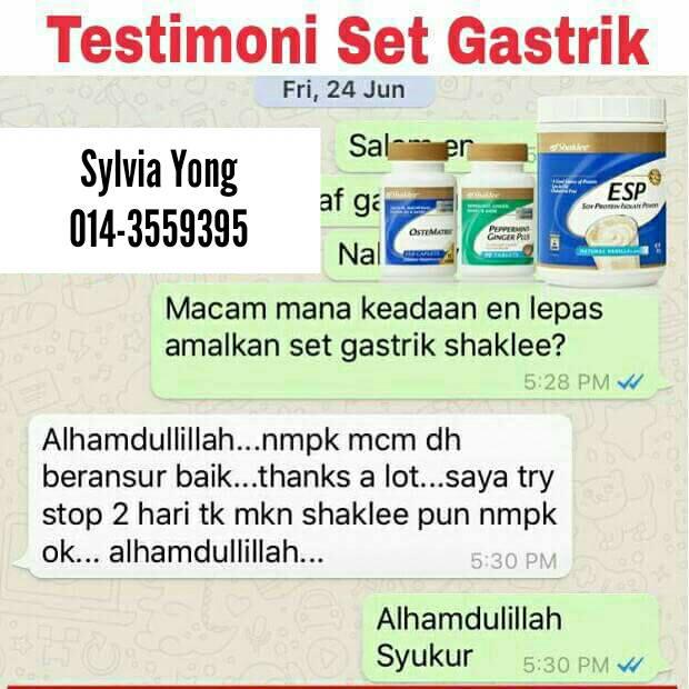 Atasi Masalah Gastrik Dengan Set Gastrik Shaklee