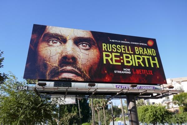 Russell Brand ReBirth billboard