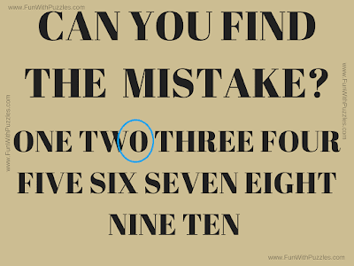 "Answer of ""Brain Test to Find the Mistake"""