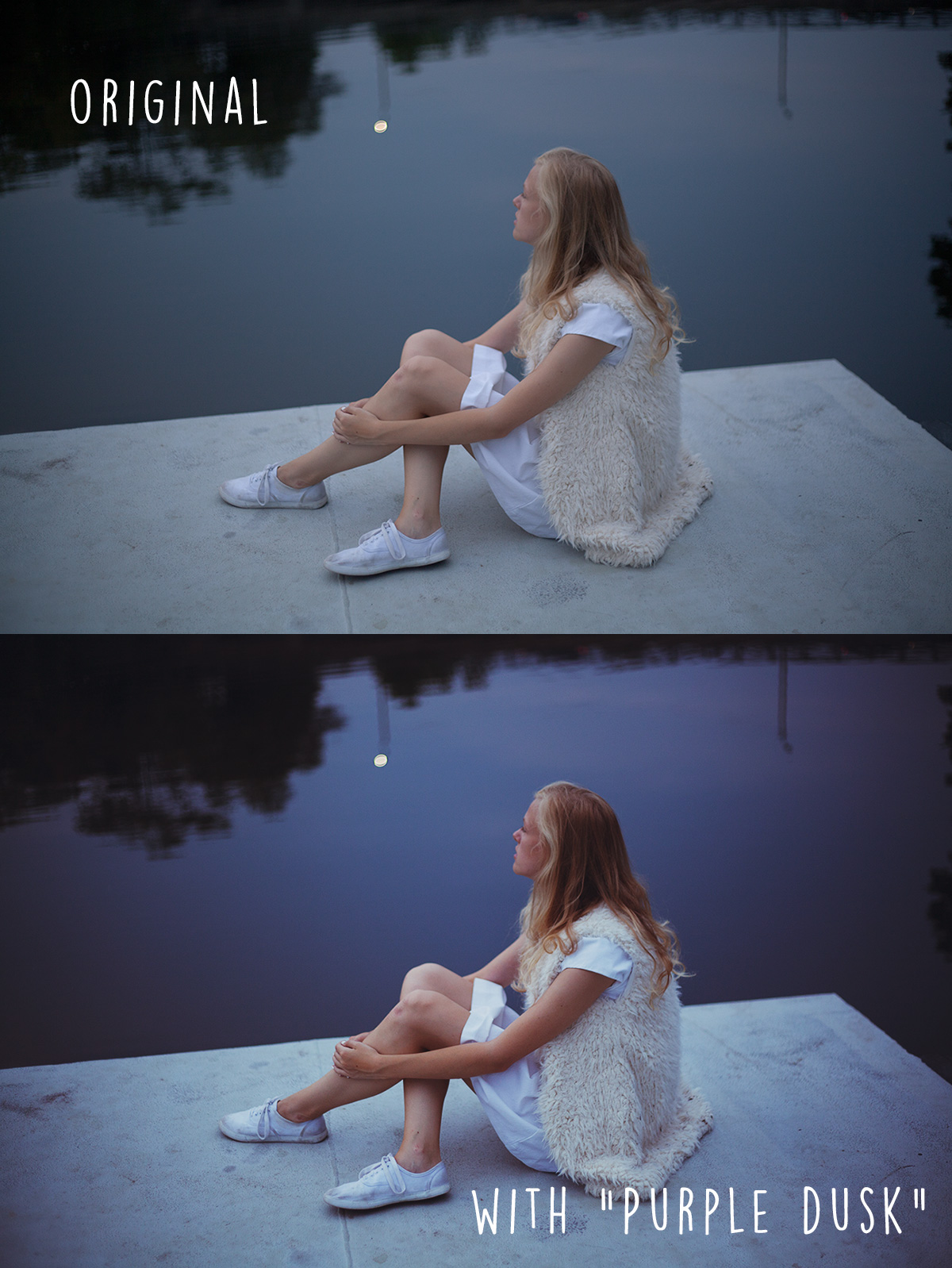 Free Photoshop curve before and after