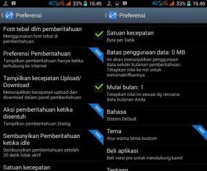 Cara Menampilkan Kecepatan Download dan Upload di Statusbar