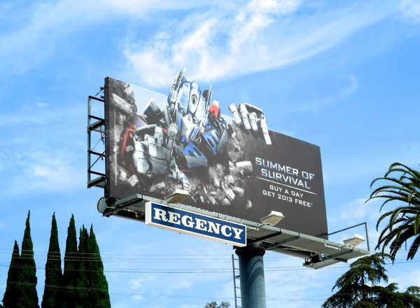 Transformers Summer Survival billboard