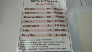 Harga Kamar Hotel Surya Asia Wonosobo
