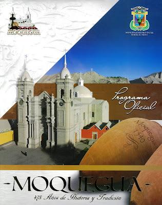Programa Oficial por los 475° años de Fundación Española de Moquegua