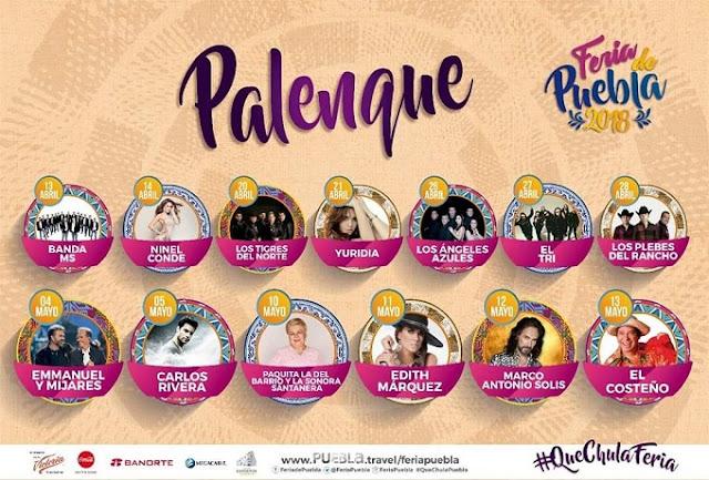 Boletos y Cartelera Palenque Feria de Puebla 2018 - 2019
