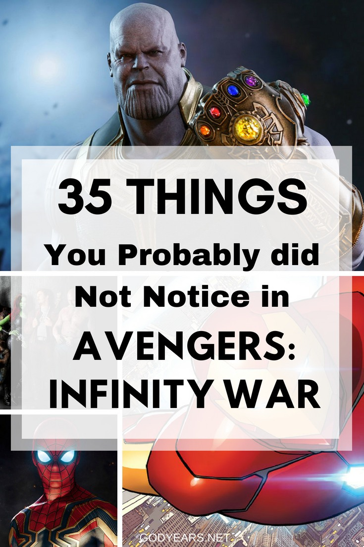 35 Easter Eggs You Probably did not Notice in Avengers: Infinity War