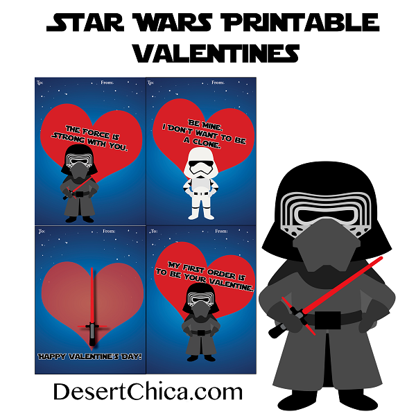 graphic relating to Printable Star Wars Valentine identified as 20 Free of charge Printable Star Wars Valentines Frugal Family members Periods