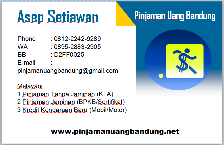 PINJAMAN UANG TANPA JAMINAN BANDUNG - Pinjaman Uang Bandung