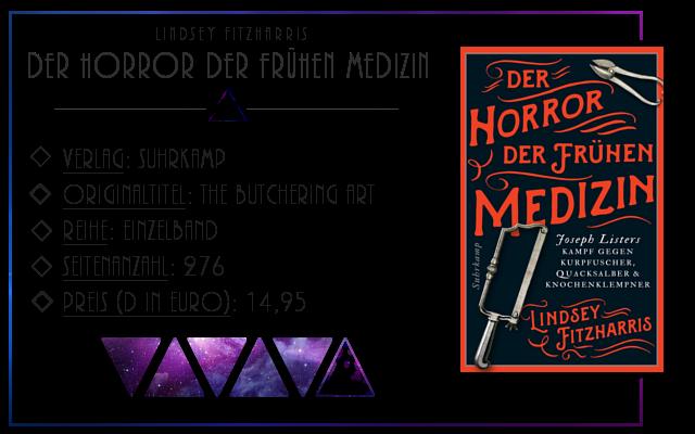 [Rezension] Der Horror der frühen Medizin - Lindsey Fitzharris