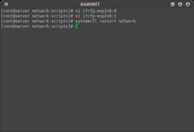 # systemctl restart network