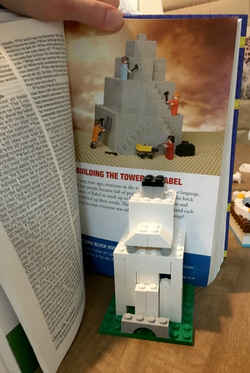 Kids Bible with lego illustrations