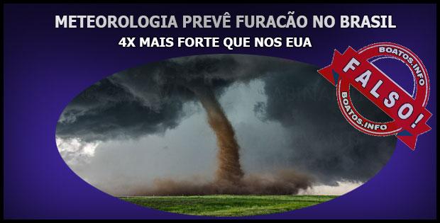 Meteorologia prevê Furacão no Brasil 4x mais forte que Irma nos EUA - Boato