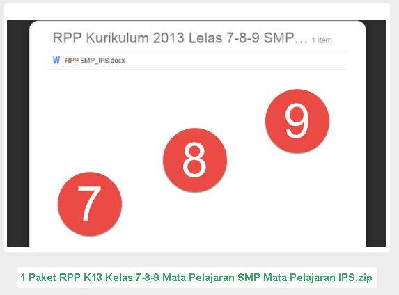 RPP IPS SMP Kurikulum 2013 Revisi 2016