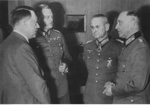 Hitler Keitel Halder Brauchitsch 4 October 1941 worldwartwo.filminspector.com