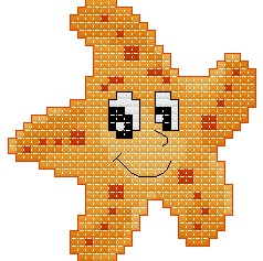 Free cross-stitch patterns, Starfish, sea-patterns, animal, cartoon, cross-stitch, back stitch, cross-stitch scheme, free pattern, x-stitchmagic.blogspot.it, вышивка крестиком, бесплатная схема, punto croce, schemi punto croce gratis, DMC, blocks, symbols, patrones punto de cruz, #crossstitch_pattern