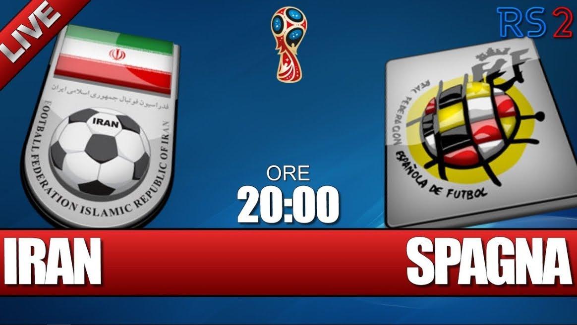 Mondiali Calcio: IRAN SPAGNA Streaming Live Rojadirecta e Diretta Video TV con Italia 1 di Mediaset
