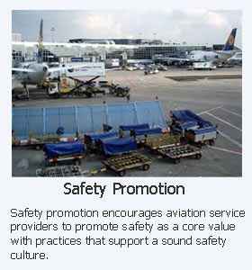 Safety Promotion as one ICAO four pillars for aviation safety management system